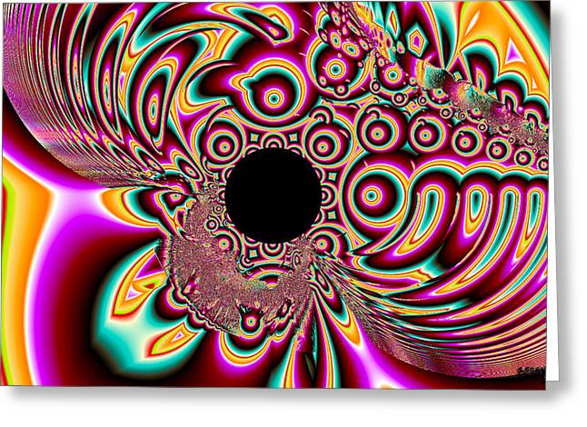 Psychedelic Swirls Greeting Card