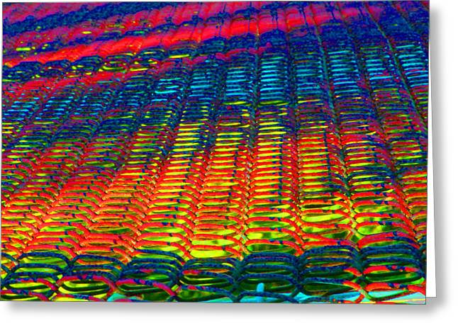 Psychedelic Yarn Greeting Card by James Hammen