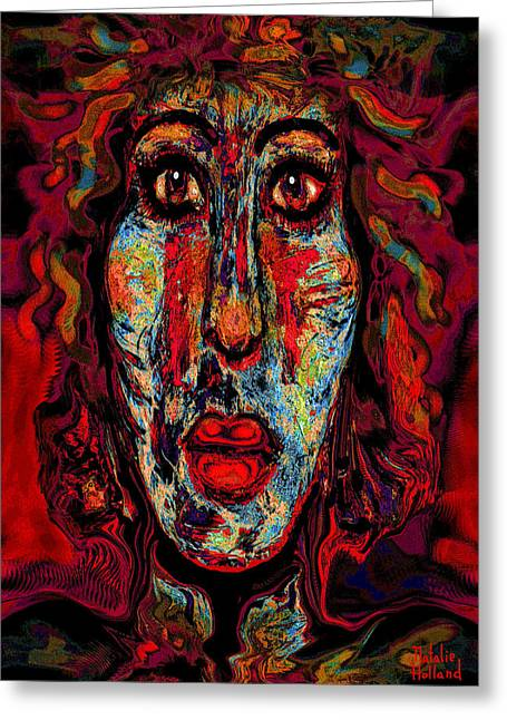 Psychic Greeting Card by Natalie Holland
