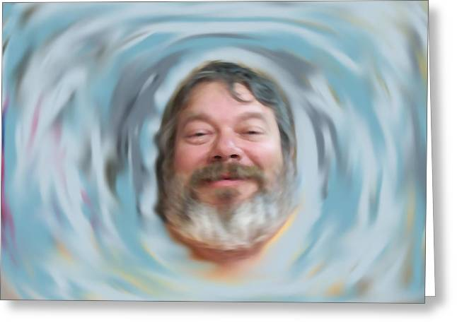 Psychic Waves Greeting Card by Randy Stamper
