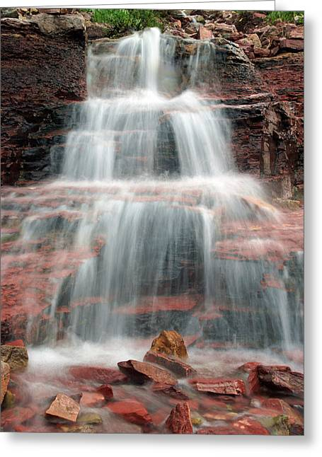 Ptarmigan Trail Waterfall No.4 Greeting Card