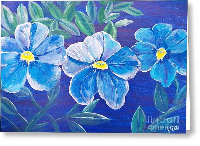 Ptg. Blue Million Bells Greeting Card