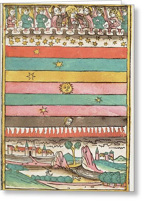 Ptolemaic Universe, 1481 Greeting Card by Granger