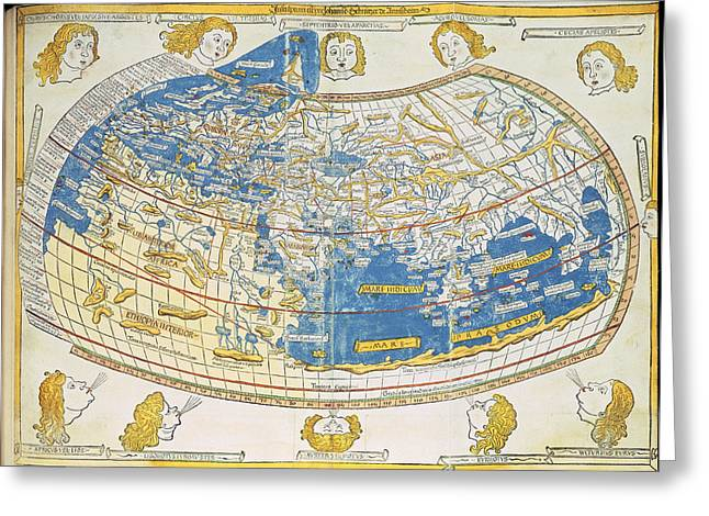 Ptolemic World Map Greeting Card by British Library
