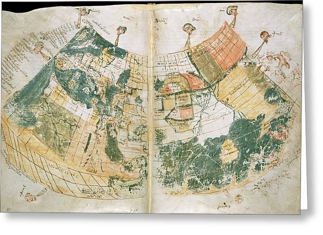 Ptolemy's World Map Greeting Card by British Library