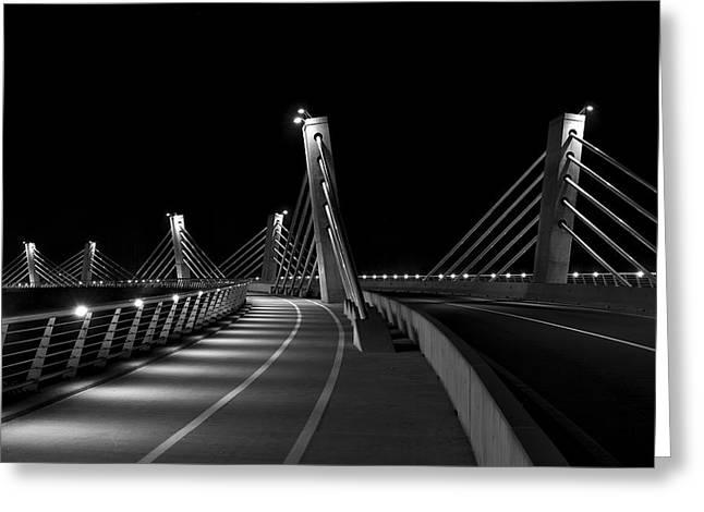 Ptuj Bridge Bw Greeting Card