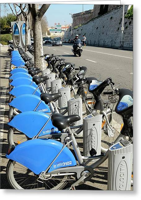 Public Bike Hire Scheme Greeting Card
