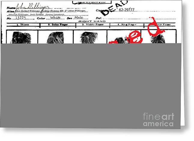 Public Enemy No 1. Confidential Greeting Card by Brittany Perez