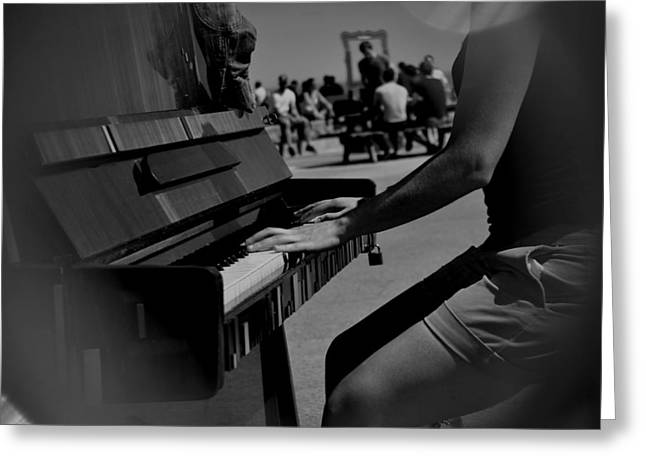 Public Music Greeting Card by Frederico Borges