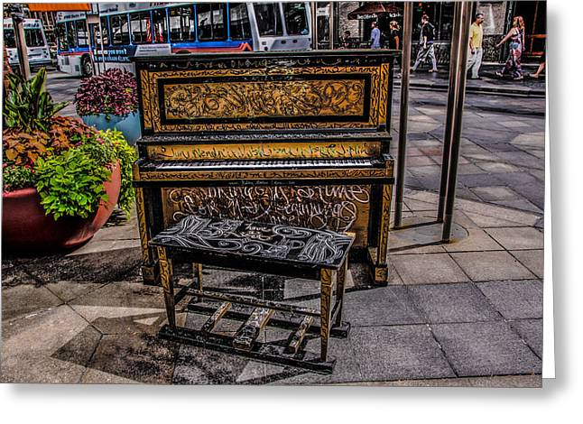 Public Piano Greeting Card by Ray Congrove