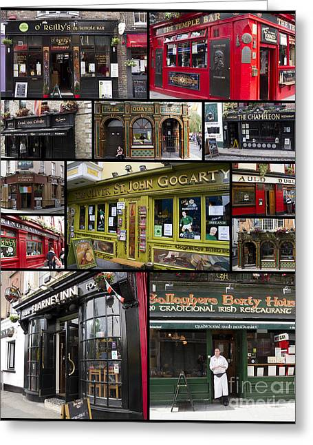 Pubs Of Dublin Greeting Card