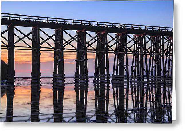 Pudding Creek Trestle Greeting Card by Karma Boyer