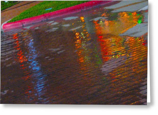 Puddle Art Paved Greeting Card by ARTography by Pamela Smale Williams