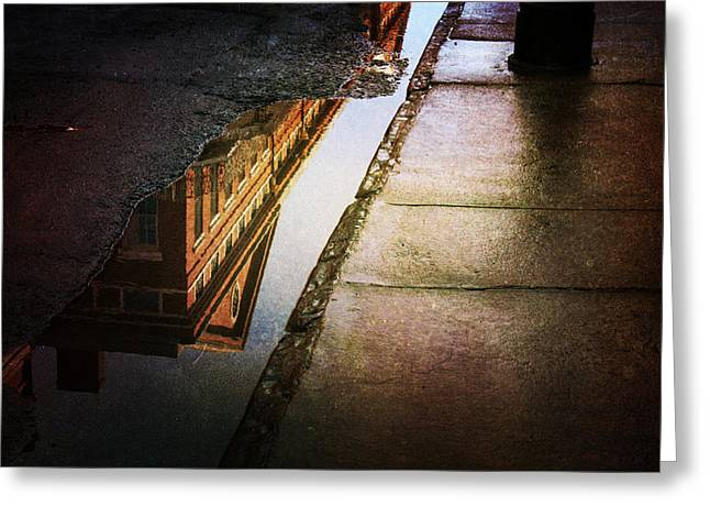 Puddles Of The Past Greeting Card by Heather Green
