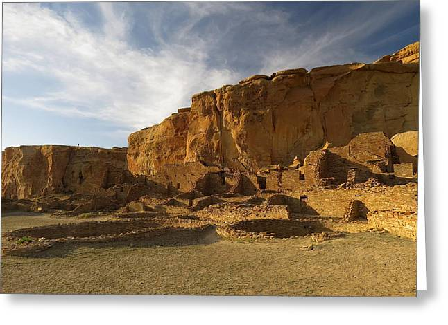 Pueblo Bonito Afternoon Greeting Card by Feva  Fotos