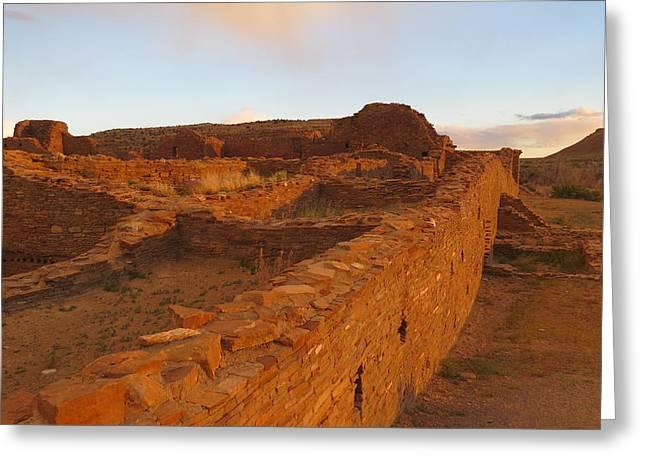 Pueblo Del Arroyo At Sunset Greeting Card by Feva  Fotos