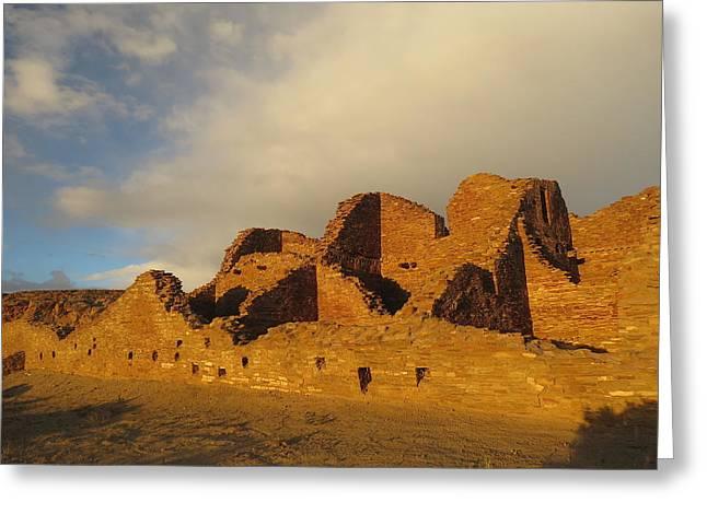 Pueblo Del Arroyo At Sunset II Greeting Card by Feva  Fotos
