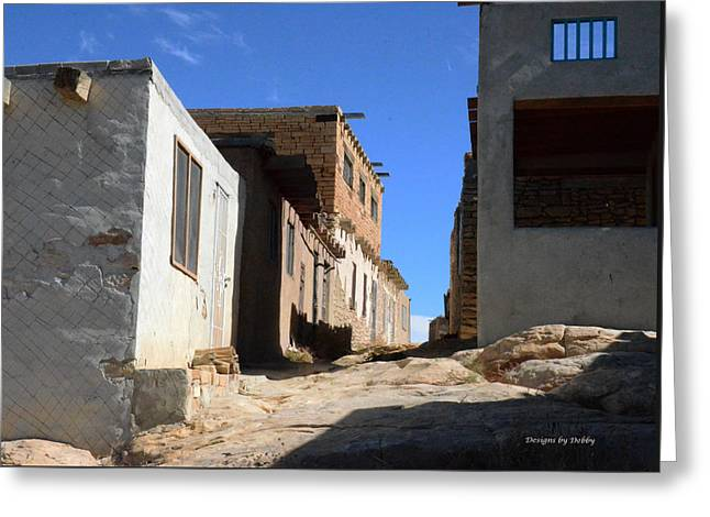 Greeting Card featuring the photograph Pueblo Pathway by Debby Pueschel