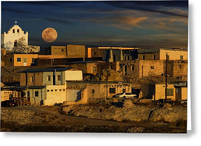 Pueblo Sunrise Greeting Card by Wendell Thompson