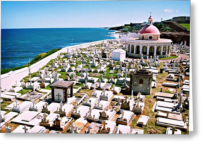 Puerto Rican Cemetery Greeting Card