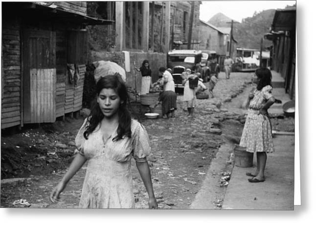 Puerto Rico Slum, 1942 Greeting Card by Granger