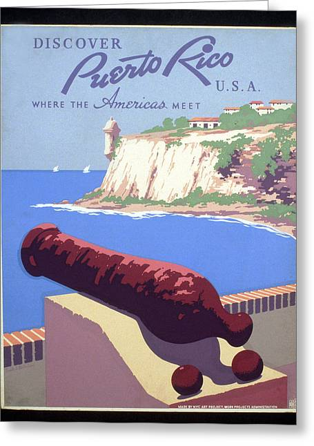 Puerto Rico Usa Greeting Card by Unknown
