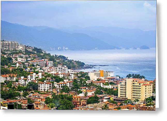 Puerto Vallarta On Mexican Coast Greeting Card by Elena Elisseeva