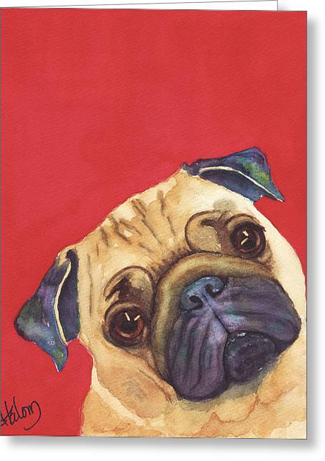 Pug 2 Greeting Card