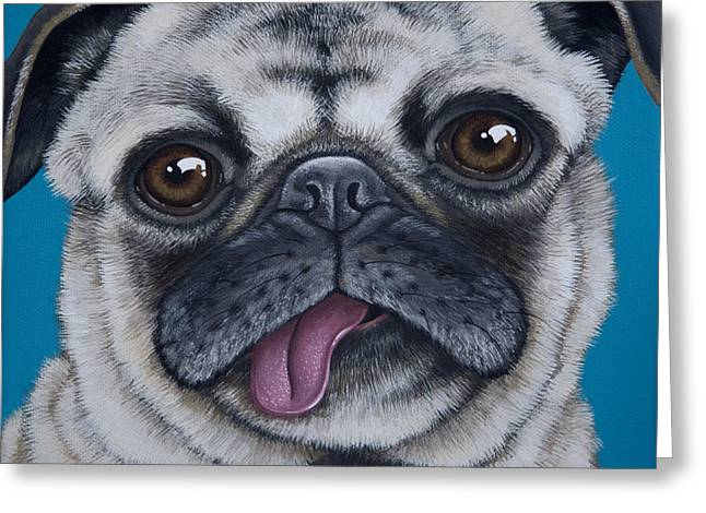 Pug Portrait Greeting Card