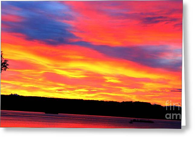 Puget Sound Colors Greeting Card by Tap On Photo