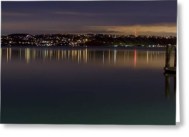 Puget Sound Reflections Greeting Card by Greggory Burt