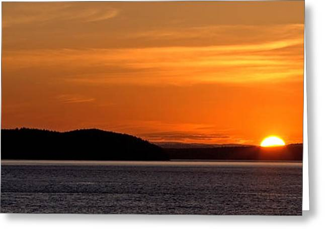 Puget Sound Sunset - Washington Greeting Card by Brian Harig