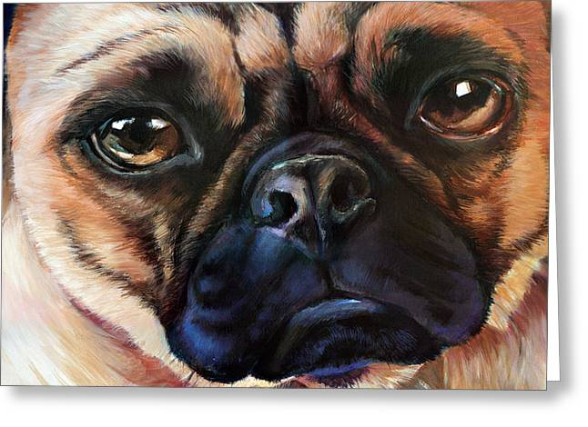 Pugly Study Greeting Card