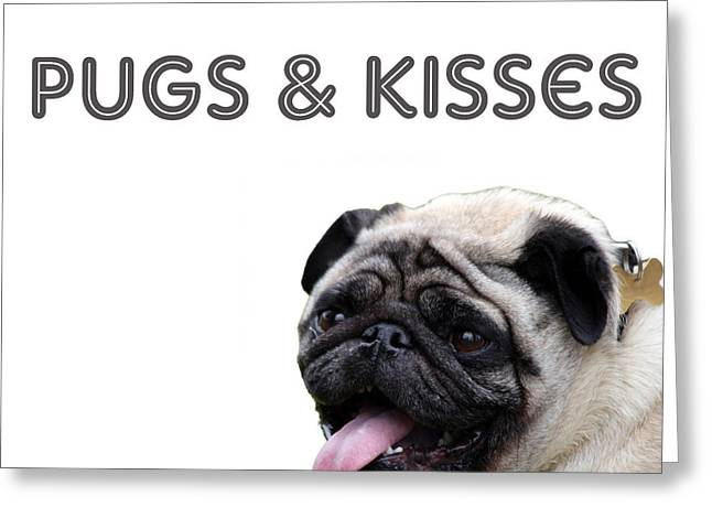 Pugs And Kisses Greeting Card by Celestial Images