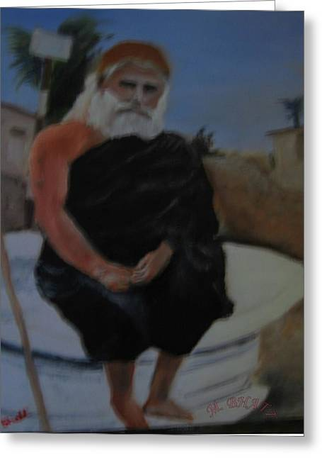 Pujya Bapji Greeting Card by M Bhatt