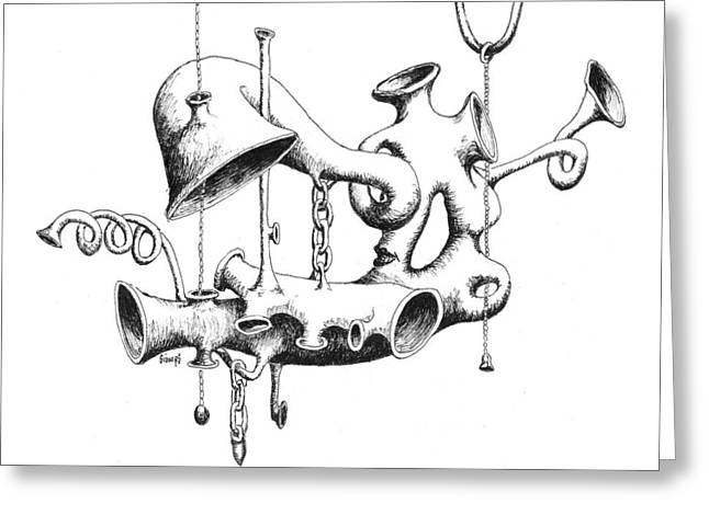 Pull My Chain Sweetheart Greeting Card by Sam Sidders