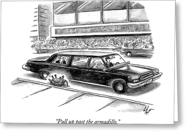 Pull Up Past The Armadillo Greeting Card
