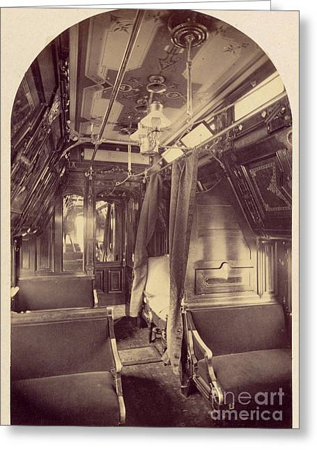 Pullman Palace Sleeping Car 1870 Greeting Card by Getty Research Institute