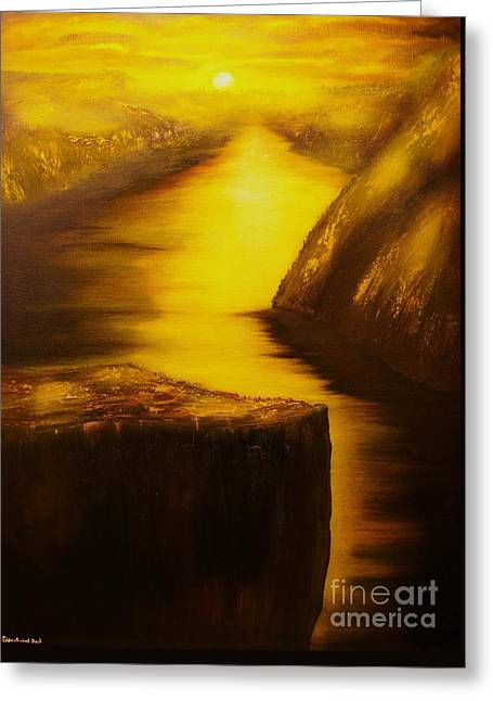 Pulpit Rock-preikestolen-original Sold-buy Giclee Print Nr 27 Of Limited Edition Of 40 Prints  Greeting Card by Eddie Michael Beck
