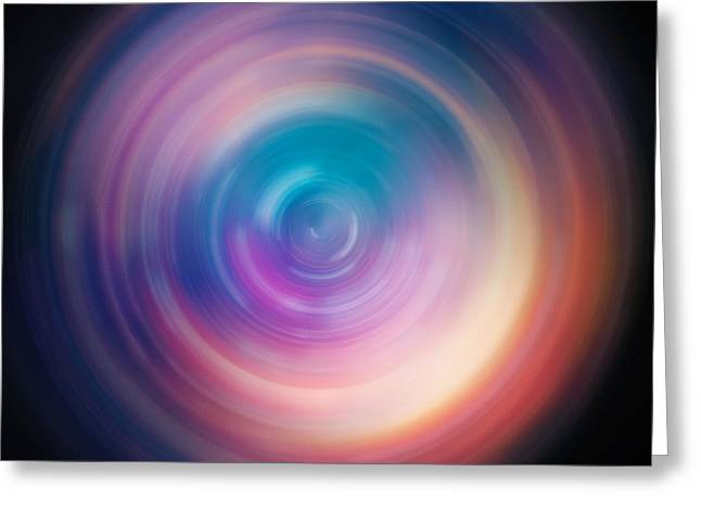 Pulse Spin Art Greeting Card by Jennifer Rondinelli Reilly - Fine Art Photography