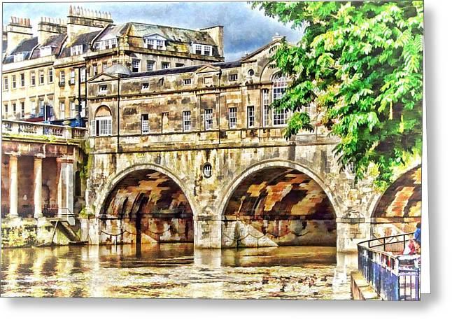 Pulteney Bridge Bath Greeting Card