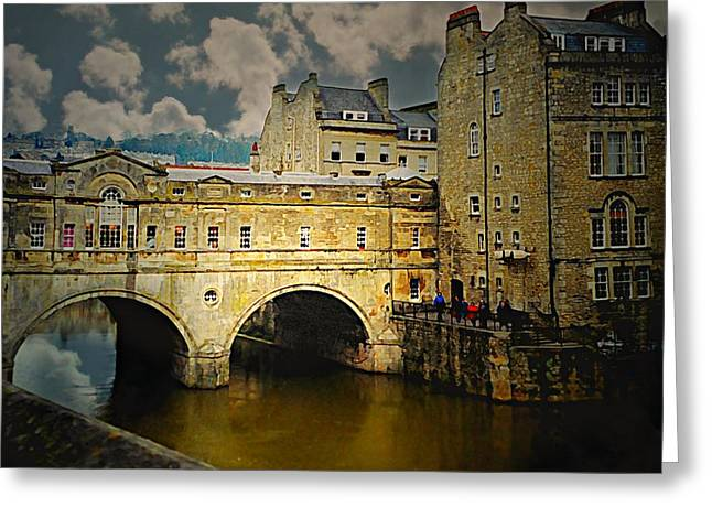 Pulteney Bridge Greeting Card by Diana Angstadt