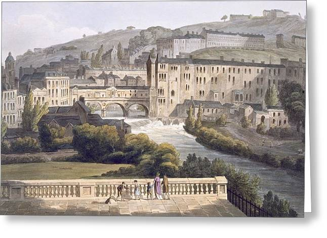 Pulteney Bridge, From Bath Illustrated Greeting Card