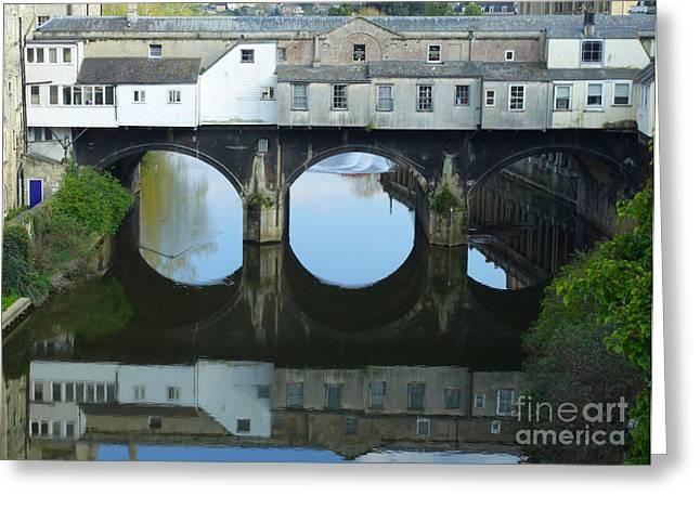 Pulteney Bridge In Bath Greeting Card by Paul Cowan