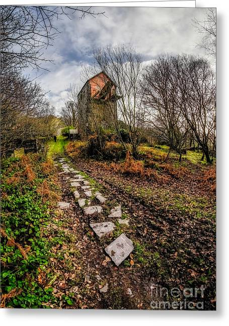 Pump House Way Greeting Card by Adrian Evans