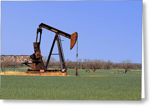 Pump Jack A Texas Icon Greeting Card