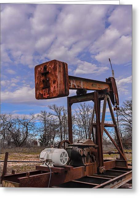 Pump Jack Greeting Card by Kelly Kitchens