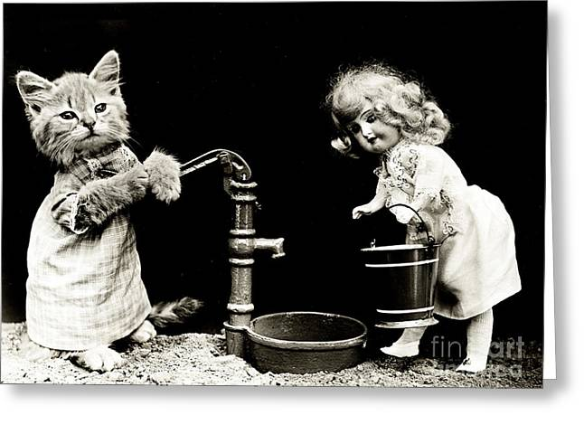 Pumping 1915 Greeting Card by Science Source