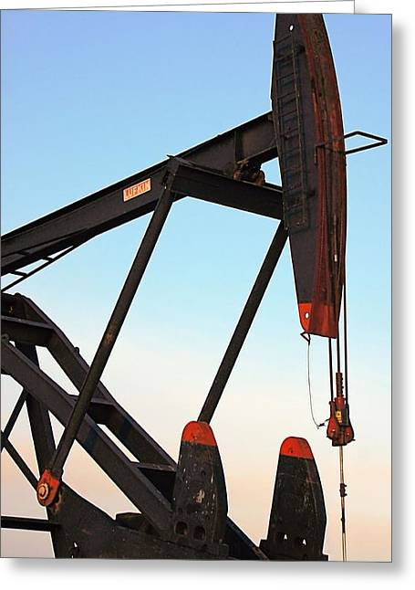 Pumpjack Greeting Card