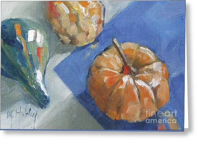 Pumpkin And Gourds Still Life Greeting Card